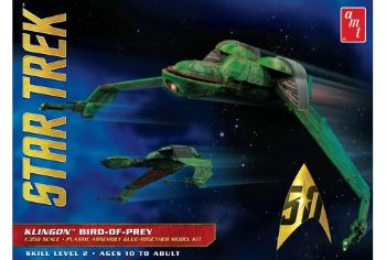 Star Trek III The Search For Spock Klingon Bird Of Prey 1:350th Scale Model Kit AMT